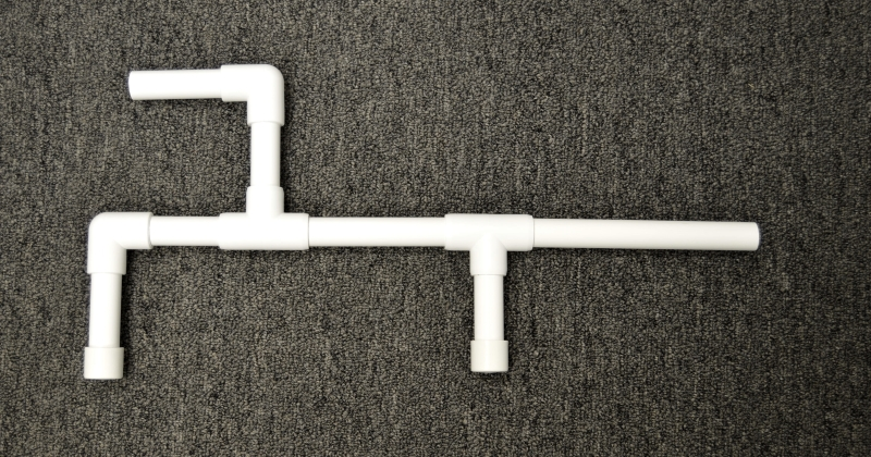 Fully Assembled Marshmallow Shooter Made of PVC Fittings