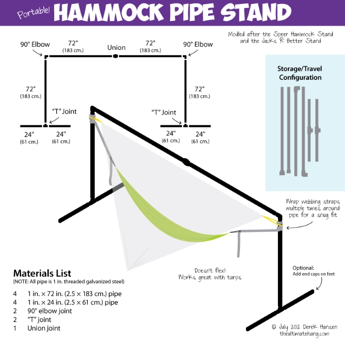 National Hammock Day Pvc Hammock Stand
