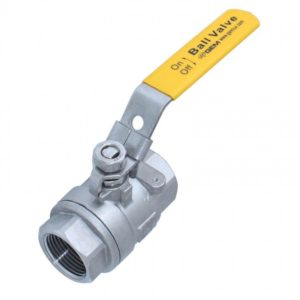 stainless steel ball valve with yellow handle