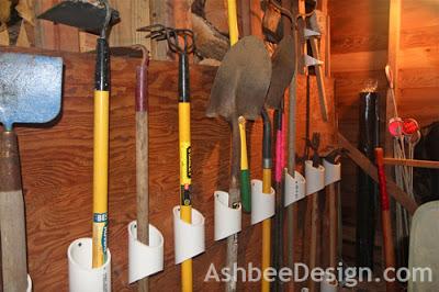 Pvc Pipe Diy Rake Holder Garage Tools
