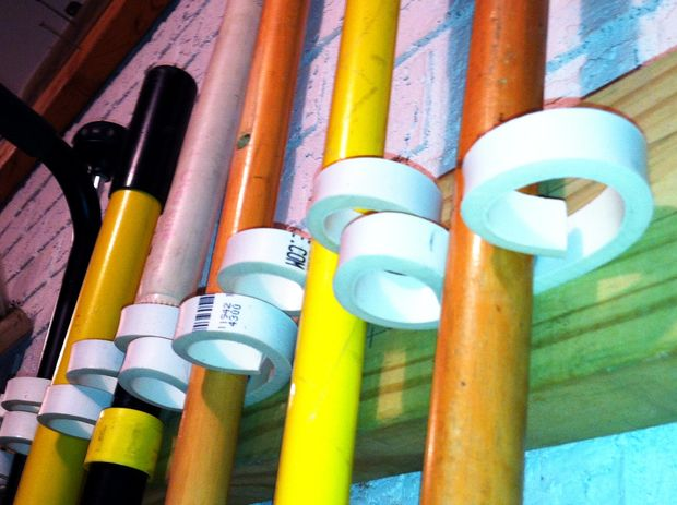 Diy How To Rake Shovel Garden Tool Wall Rack From Pvc