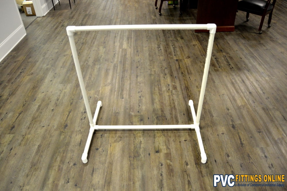 Diy pvc clothes rack easy diy with pvc pipe and fittings diy pvc clothes rack completed solutioingenieria Choice Image